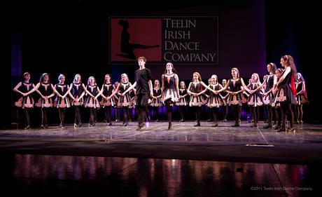 Members of the Teelin Irish Dance Company
